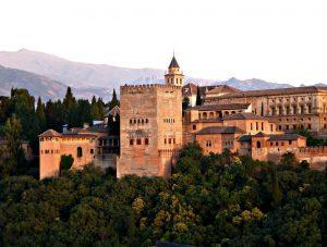 Альгамбра в Гранаде фото с высоты