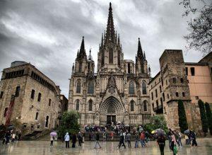 Готический квартал в Барселоне фото замка
