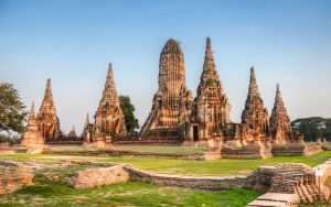 Исторический город Аюттайя в Таиланде фото