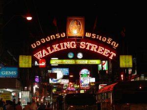 Улица Уокинг- стрит в Паттайе