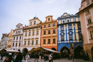 Город-музей Тельч красивое фото домов