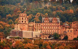 Гейдельбергский замок фото осенью