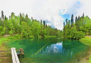 Радоновые озера в Ленинградской области красивое фото зеленое озеро