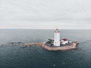 Маяк Толбухин в Ленинградской области, Финский залив фото