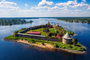 Крепость Орешек в ленинградской области фото сверху