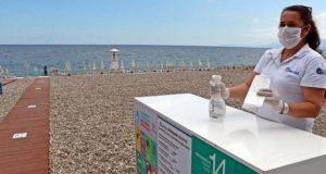 обработка на пляже в Турции от коронавируса