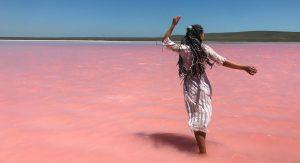 розовое озеро в Крыму 2020