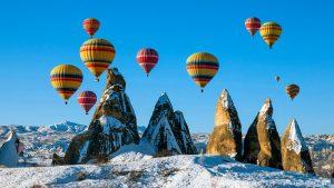 полеты на шарах в Турции зимой - Каппадокия