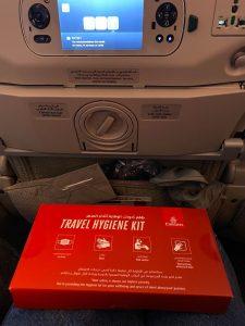 набор в самолете при полете в Дубай