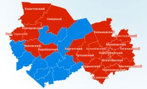 регионы Новосибирска